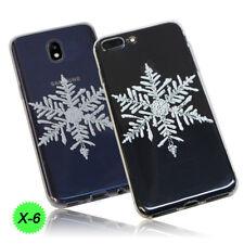 Christmas Xmas Festive Print Slim TPU Silicone Case Cover Samsung Galaxy S7 Edge X6- Snowflake Icy Crystal