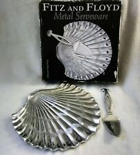 Fitz and Floyd Metal Serveware ~ Cheese Plate with Server 2003