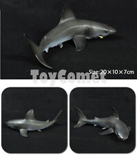 20cm Realistic Megalodon Shark Sea Animal Figure Solid Plastic Toy Model