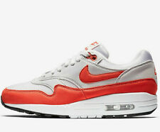 Women Nike Air Max 1 ® ( UK Sizes:  6  &  6.5 ) Vast Grey / Herbanero Red NEW