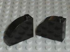 2 x Lego black Brick with Curved Top ref 33243 / set 10213 8018 7656 75045 70912