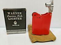 Rare Working Vintage 40s-50s WARNER Model 130 Lift Arm Lighter NEW, ORIGINAL BOX