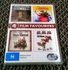 CARHILL / 3 GODFETHERS / THE TRAIN ROBBERS / RIO BRAVO - JOHN WAYNE 4 DVD SET