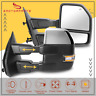 Chrome Power Heated Tow Mirror W/ Turn Signal Puddle Light For 2007-14 Ford F150