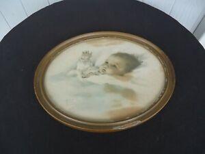 Vintage antique Bessie Pease gutmann  USA Awakening Baby Color Print picture