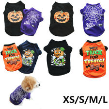 Halloween Topic Small Cat Dog Puppy Vest T-Shirt Pet Clothes Apparel Costumes