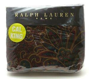 Vintage Ralph Lauren Ascot Paisley Deep Fitted Sheet Cal King Sateen NEW/NOS!