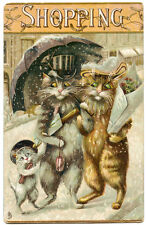 "Tucks Humorous Cats Series 122 ""Shopping"" Cats Maurice Boulanger"