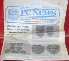 January 2002  PCN Police Collectors News Police Cars Badges Patches academy