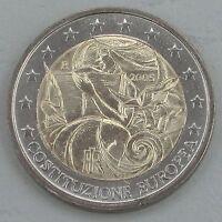 2 Euro Italien 2005 EU-Verfassung unz.