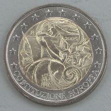 """2 euro Italie 2005 """"ue-Constitution"""" unz."""