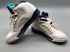 super popular 327a5 d5481 Nike Air Jordan Retro 5 White Traube 136027 108 Herren Größe 8