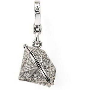 Juicy Couture Charm Pave Locket Silver tone