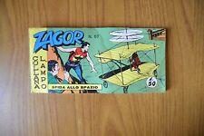 FUMETTO STRISCIA ZAGOR COLLANA LAMPO N. 57 SERIE III 1966 EDIZ ARALDO COMPLETO