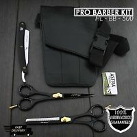 """Professional Hairdressing Scissors Barber,Salon Shears SET 6"""" with Pouch& RAZOR"""
