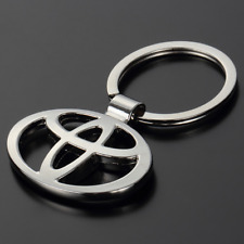 Metal Keyring Double Side Car Logo Hollow Out Key Chains Holder fit for Toyota