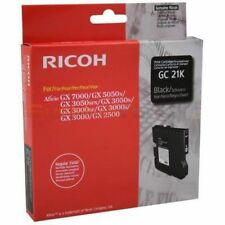 Ricoh GENUINE/ORIGINAL GC 21K BLACK Ink/Liquid Gel Cartridge Aficio GX7000 GC21K