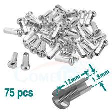 75pcs DT Swiss  15G 1.8 x 12 mm Silver Aluminum Alloy Bike Wheel Spoke Nipples