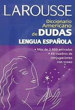 Diccionario americano de dudas frecuentes de la lengua espanola Spanish Edition