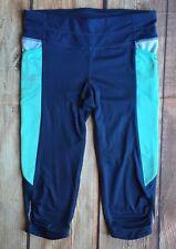 Athleta Leggings size Medium Capris Blue Aqua Running Athletic Womens Pants