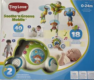 Tiny Love Soothe 'n Groove Mobile Animals, Blue 0-24 Months, 2015