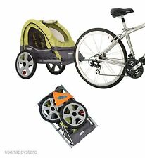 Bicycle Trailer Stroller Canopy Child Kids Jogger Carrier Bike Folding Pet Dog