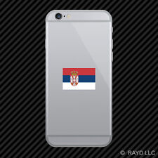 Serbian Flag Cell Phone Sticker Mobile Serbia SRB RS