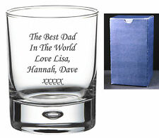 Personalised Engraved Bacardi Rum and & Coke Glass Bubble Tumbler Birthday Gifts