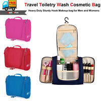Waterproof Hanging Toiletry Bag Travel Cosmetic Kit Large Essentials Organizer