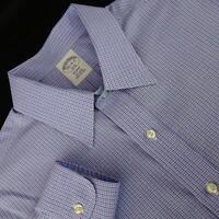 Brooks Brothers Regent 1818 Mens Blue Dress Shirt Size 16.5 - 6/7 Large Non Iron