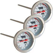 3x Analoges Fleisch- & Braten-Thermometer Fleischthermometer Einstichthermometer