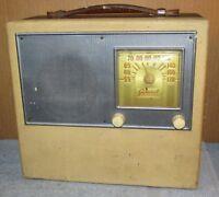 Vintage RCA/HAZELTINE GENERAL TELEVISION Portable Tube Radio As Is J0113