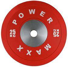 POWER MAXX 25kg Premium Bumper Plate // Weightlifting Powerlifting Crossfit Gym