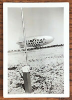 VINTAGE ORIGINAL 1930s (1939) GOODYEAR LIFEGUARD TIRES BLIMP PHOTO MIAMI FLORIDA