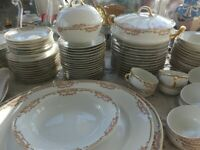 Antique B&C Limoges France L Bernardaud Marked 1900's- Set of 146 pcs Dinnerware