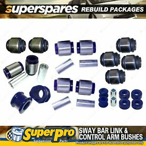Rear SuperPro Control Arm Sway Bar Bush Kit for Ford Territory SX SY 2004-2011