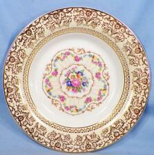 Limoges Royal Delight Soup Bowl Pink Flowers 22K American C-49 Vintage Rimmed