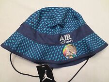 NIKE AIR JORDAN STENCIL BUCKET HAT ADULT 658386 410 UNISEX CAP SIZE SMALL MEDIUM