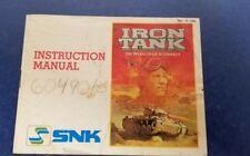 Iron Tank NES Nintendo Instruction Manual Only