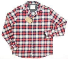 NEW WEATHERPROOF BIKING RED PLAID BRUSHED FLANNEL BUTTON DOWN SHIRT SZ 3XL