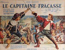 """""""LE CAPITAINE FRACASSE"""" Affiche originale entoilée (Jean MARAIS)"""