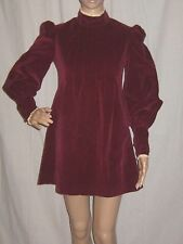 Vintage 60s Mod Mini Dress Velvet Poet Sleeve by Rag Dolls San Francisco Small