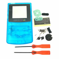 GBC Nintendo Game Boy Color Replacement Housing Shell Screen Clear Blue USA!