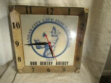 Vintage Rare Advertising Electric Wall Clock Kansas City Life Insurance Co