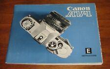 Canon Av-1 Camera Instruction Book / Manual