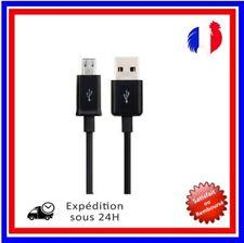 Cable Micro USB  Data Sync Chargeur pour Smartphone Samsun, HTC, Tablette Noir