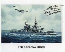 LOUIS CONTER - Signed 10x8 Photograph - USS ARIZONA PEARL HARBOUR 1941