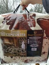 1 pc Twin Size Chocolate Rodeo Cow Print Comforter