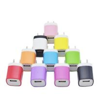 10X Color 1A Usb Power Adapter Ac Home Wall Charger Us Plug For iPhone 5 5S 6 Lg