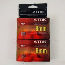 Tdk 8mm Superior Grade Mp 120 Blank Tapes Lot of 2 Japan Brand New Camcorder